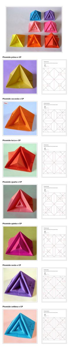 Origami: Seventh Pyramid and Variants - Seventh Pyramid and Variants, by Fran . - Origami: Seventh Pyramid and Variants – Seventh Pyramid and Variants, by Francesc … – - Origami Modular, Diy Origami, Origami And Quilling, Origami And Kirigami, Origami Ball, Origami Folding, Paper Crafts Origami, Origami Tutorial, Paper Folding