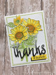 Altenew Spring Daisy stamps/dies, Halftone Thanks Altenew Cards, Stampin Up Cards, Flower Stamp, Flower Cards, Create Your Own Card, Paint Cards, Beautiful Handmade Cards, Pretty Cards, Watercolor Cards