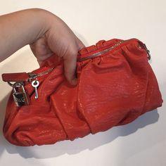 Saleauthentic D&G Calfskin Orange Regina Bag