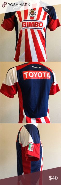 RBK Club Deportivo Guadalajara Toyota Jersey RBX Bimbo Jersey Mexico 077893 Official Team Merchandise  Material: Play Dry  Condition: no rips no tears -S- RBX Shirts Tees - Short Sleeve