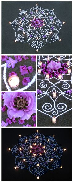 feminine sacred art kolam mandala rangoli art temple flow geometry divine earthereal