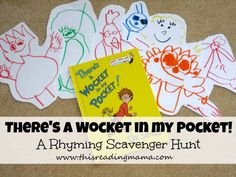 There's a Wocket in My Pocket- A Rhyming Scavenger Hunt {Dr. Seuss Virtual Book Club Hop} - This Reading Mama
