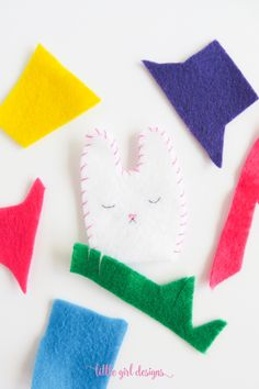 Learn how to make a felt bunny. Makes a sweet addition to an Easter basket, great for pretend play, and adaptable as a tooth fairy pillow too!