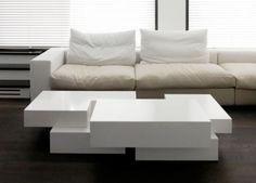 Paris Apartment by Pascal Grasso Architectures. White table.