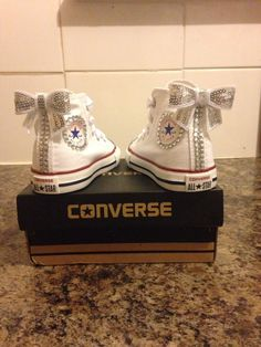 New Customised Crystal Converse Infant Sizes 2 3 4 5 6 7 8 9 Converse Wedding Shoes, Bling Converse, Wedding Sneakers, Baby Converse, Prom Shoes, Cute Baby Shoes, Baby Girl Shoes, Girls Shoes, Bedazzled Shoes