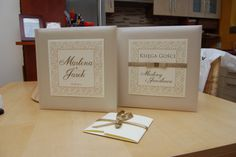 Księga gości oraz album na zdjęcia do kolekcji Marakesz