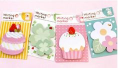 Fusen Collection Heart & Flowers Memo Stickers Postit by ZakkakkaZ