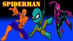 The Finger Family Spiderman  Spider Man Finger Family Songs  Kids Songs ...
