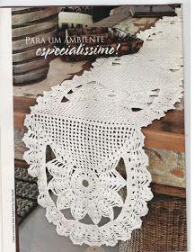 Use o gráfico abaixo e confeccione um lindo Tapete ou Caminho de mesa em crochê