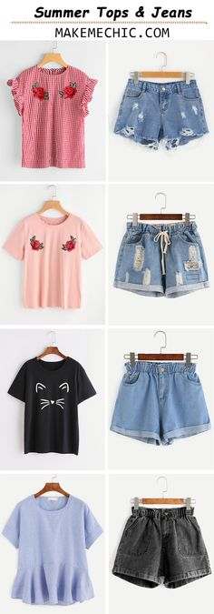 Summer Tops & Jeans