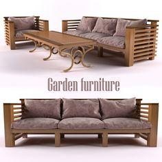 modeled 3d model 3d model - Garden Furniture 3d Model