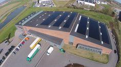 Beirholm A/S Kolding: 180 kW Tyndfilms solcelleanlæg med Danfoss invertere og TSMC paneler fra Taiwan.