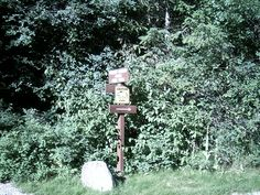 Bear Alert Sign right outside my tent Premier Lake Provincial Campground, BC 2006 Random Pictures, Bird Feeders, Wind Chimes, Tent, The Outsiders, Sign, Outdoor Decor, Home Decor, Cabin Tent