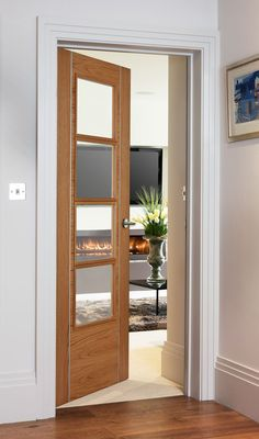 Alu 9324 Oak Bespoke - contemporary style door with beautiful aluminium inlays perfect for modern homes