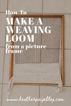 How to make a weaving loom from a picture frame - a simple DIY tutorial for aspiring weavers needing a simple lap loom to start weaving on for cheap. Step-by-step instructions and pictures. Treatment Projects Care Design home decor Weaving Loom Diy, Weaving Art, Weaving Patterns, Tapestry Weaving, Hand Weaving, Loom Weaving Projects, Knitting Patterns, Weaving Loom For Kids, Knitting Tutorials