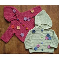 Ravelry: Hooded Jacket - Flowers TC035 pattern by Kathryn John
