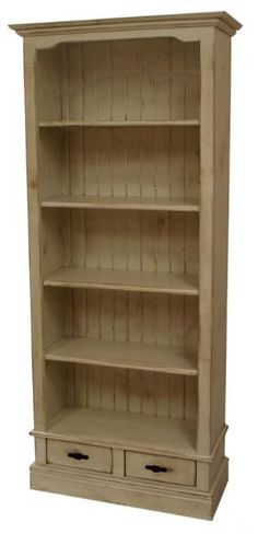 """Genevieve Bookcase - Item No. 373:  A beautiful Victorian-inspired bookshelf with two drawers at base for concealed storage.  Overall Dimensions: 32"""" x 14"""" x 74""""h"""