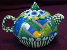 Tea Pot from the Land of Ollie | creation-in-clay - Novelty on ArtFire
