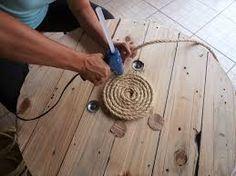 Resultado de imagem para trabalhando com bobinas de madeira
