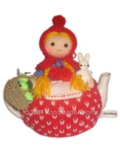 Lovely Little Red Riding Hood with her Bunny and by HandMadeAwards, $4.50