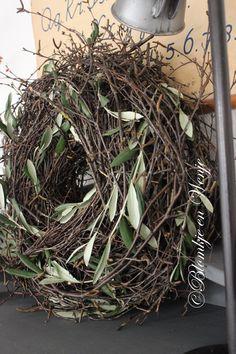 wreath krans kranz corona olive olijf Blomkje en Wenje stoer sober landelijk