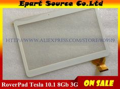 [Visit to Buy] A+ New RoverPad Tesla 10.1 3G Tablet Capacitive touch screen panel Digitizer Glass Sensor replacement #Advertisement