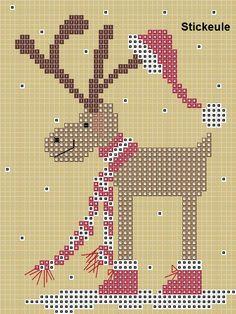 Stickeule: Ein Weihnachtselch
