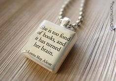 Scrabble® Necklace Pendant (Alcott Books) made on Scrabble® tile letter. Scrabble® tile pendant. Gift Present