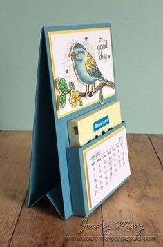 Craft Tutorial – Post-It Note Mini Calendar Craft Tutorial Post-It Note Mini Calendar 3d Paper Crafts, Paper Gifts, Diy Paper, Paper Toys, Ideas Scrapbook, Cadeau Parents, Post It Note Holders, Craft Show Ideas, Easel Cards