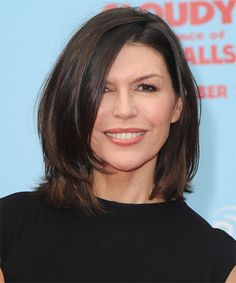 medium hair cuts | Finola Hughes Hairstyle - Casual Medium Straight - 16519 ...