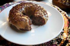 Baked Espresso Glazed Doughnuts // shutterbean