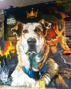 """""""All dogs go to heaven."""" Street art in Athens """"Todos os cachorros vão para o céu"""". Grafite em Atenas #greece #dog #graffiti #cão #grecia #streetart"""