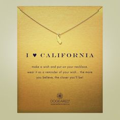 "Dogeared i love California necklace (18"") Length:18"" Dogeared Jewelry Necklaces"