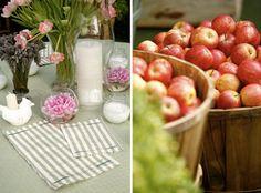 Para lembrar de um casamento perfeito: Flores e Frutas