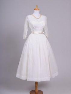 Designer unknown / unbekannt - 1950's Chiffon Grace Kelly Inspired Vintage Wedding Dress