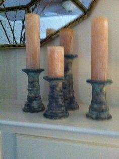 I love my McCarty Pottery Candlesticks-Merigold Mississippi