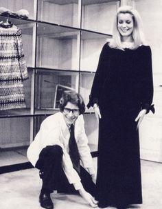 Catherine Deneuve and Yves Saint Laurent, 1966
