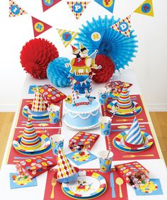 Loving this Big Top Circus Party Set on #zulily! #zulilyfinds