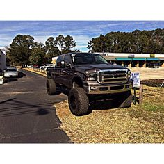 Black Ford truck lifted