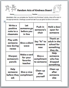 Confessions of a School Counselor: Take Time To Be Kind-- RAK 2013