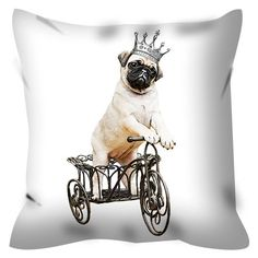 Pillow coverPug pillow case cushion cover Pug pillow by CocoTwo