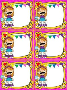 A Preschool Education, Kindergarten Crafts, Borders For Paper, Borders And Frames, Literacy Games, School Labels, Cute Frames, Diy Calendar, Clip Art