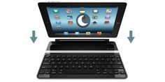 Logitech ultrathin iPad keyboard cover,   Bluetooth keyboard, magnetically attaches as cover; detaches as iPad stand