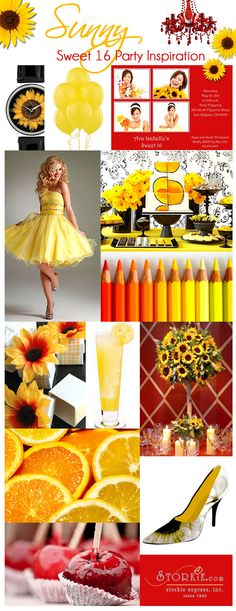 Sunny Sweet 16 Party Ideas