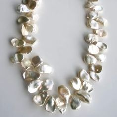 This Keishi petal pearl necklace would make a fab bridal accessory!  Designer - Aisling Wallace