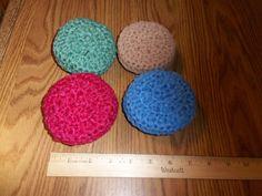 Crocheted Nylon Netting Double Scrubbies Scrubber by bestdoilies, $14.00