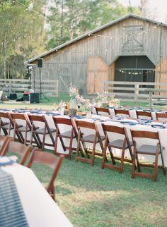 Southern wedding - barn reception