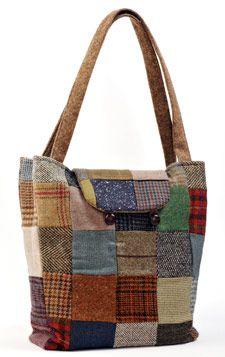 Donegal Tweed Reversible Bucket Bag