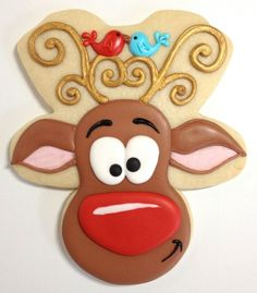 Whimsical Reindeer Cookies with Cookies with Character {Guest Post}