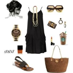 Black Sundress, created by dawndayiannelli by lindsey.leclere
